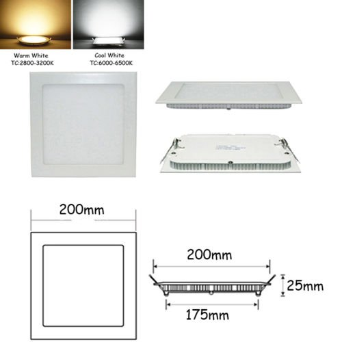 Xidaje Low Power Consumption Bright Cree Led Recessed Ceiling Panel 9W