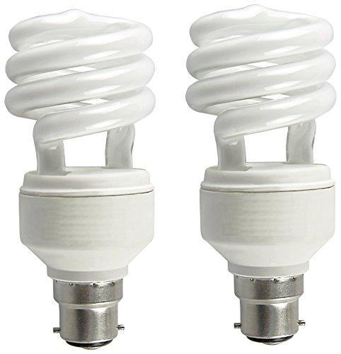 Osram Mini Spiral 8 Watt CFL Bulb (Warm White,Pack of 2)