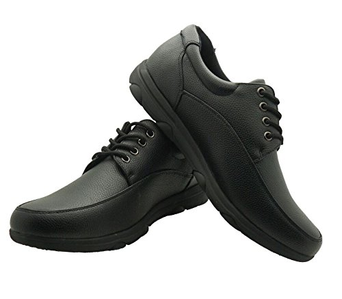 Faranzi Men's Professional Nonslip Comfort Work Black Shoe, Water and Oil Resistant 9 D(M) US (Black Restaurant Shoes compare prices)