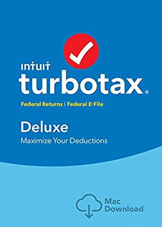 TurboTax Deluxe 2016 Tax Software Federal + Fed Efile Mac download  [Amazon Exclusive]