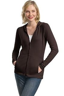 Port Authority Ladies Modern Stretch Cotton Full-Zip Jacket, dark chocolate brown, Small