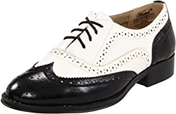 Wanted Shoes Women\'s Babe Oxford, Black/White, 7.5 M US