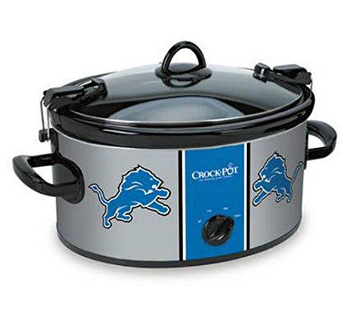 Official NFL Crock-pot Cook & Carry 6 Quart Slow Cooker - (Detroit Lions) (Personal Slow Cooker compare prices)