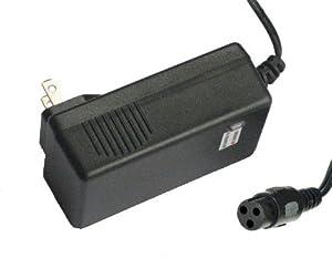 LotFancy  QILI 24 Volt 24V 0.6A 600mA (3 prong Inline(female)) Electric Bike Motor Scooter Battery Charger Power Supply Adapter For Razor E100 E125 E150 E175 E200 E225 E300 E325