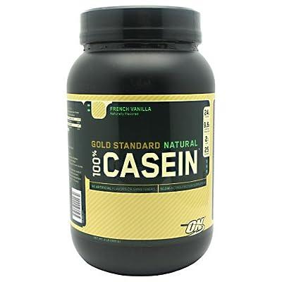 Optimum Nutrition Natural 100% Casein Protein, French Vanilla, 2 Pound