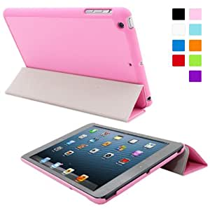 Snugg iPad Mini Ultra Thin Smart Case in Candy Pink - Flip Stand Cover with Auto Wake and Sleep for Apple iPad Mini