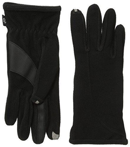 Isotoner Women's Smartouch Stretch Ottoman Glove, Black, One Size