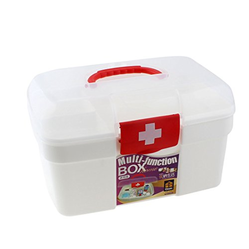 uxcell® Plastic Household Medicine Pill Tablet Storage Chest Box Case White (Medicine Bottle Container compare prices)