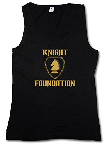BLACK KNIGHT FOUNDATION LOGO DONNA TOP - TV Rider David Series Supercar Kult hasselhoff K.I.T.T. Taglie S - XL