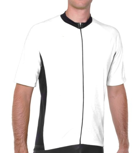 Conquer Road/MTB Endurance Short Sleeve Cycling Jersey, White, Large