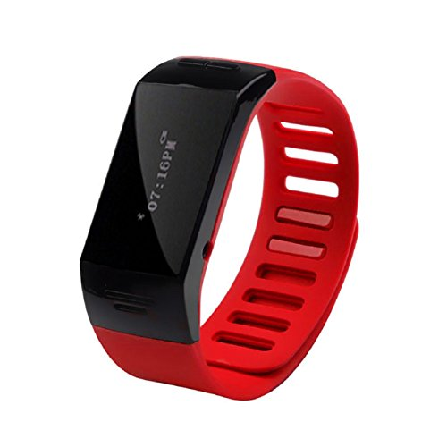 Pooqdo (Tm) Hot Sell Smart Wrist Bluetooth Watch Wristband Bracelet Phone For Ios Android Black (Red)