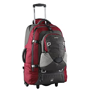 Fast Track 85 Travel Pack/ Wheeled Rucksack (red/charcoal)