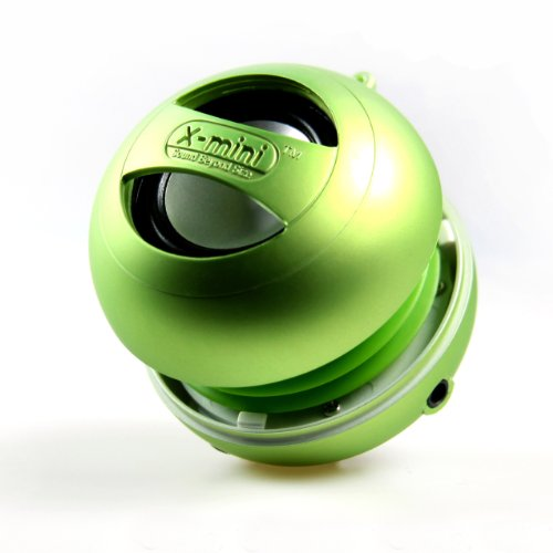 X-Mini Xam4-G Ii Portable Speaker For Ipod / Mp3 Players & Laptops-Speakers-Retail Packaging-Green