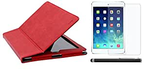 BMS New Multi Colour Designer PU Leather Smart Flip Book Case Cover Stand for ipad 2 with Screen Guard with Stylus Combo Set