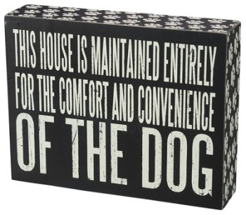 Primitives by Kathy Box Sign, 7.5 by 5.75-Inch, Comfort Dog