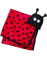 Sozo Baby-Girls Newborn Ladybug Swaddle Blanket and Cap Set, Red/Black, One Size