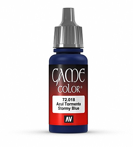 Vallejo Game Color Stormy Blue Paint, 17ml