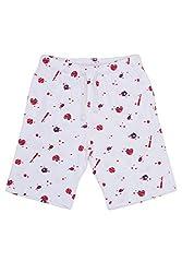 Chalk by Pantaloons Boy's Cotton Shorts (205000005605611, White, 2-3 Years)