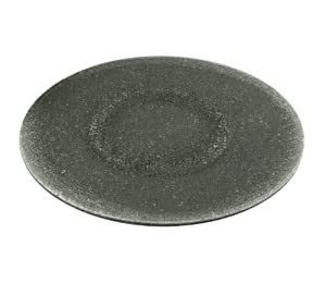 Chintaly Imports Sandwich Lazy Susan Rotating Tray, 24-Inch, Gray Tinted Glass/Sandwich