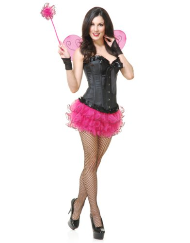 Womens Small-Medium Fuchsia Insect Cute Tutu and Wings Costume Set