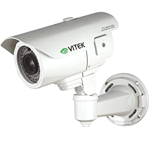 Vitek CCTV VTC-IRE70/650 700TVL Infrared Bullet Camera with 300' Range 6-50mm OSD, External Zoom/Focus Control, Highlight Masking, Waterproof - IP68
