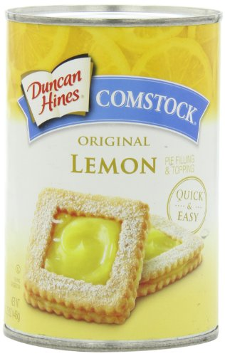 Comstock Original Pie Filling & Topping, Lemon, 15.75 Ounce (Pack of 6)