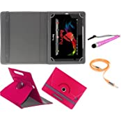 Gadget Decor (TM) PU LEATHER Rotating 360° Flip Case Cover With Stand For Micromax Canvas Tablet P290 + Stylus...
