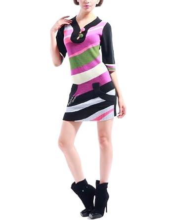 Pam & Arch London - Robe Imprimé Wave - Femme - Rose - 40