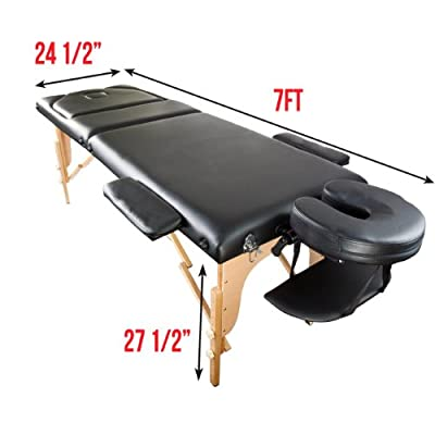 "Apontus Portable Massage Table w/ Carrying Case, 3"" Foam Padding"
