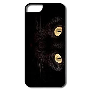 Amazon.com: Black Cat Eyes Cute Hard Case For IPhone 5/5S ...