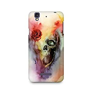 Mobicture Skull Paint Premium Printed Case For Micromax YU Yureka A05510