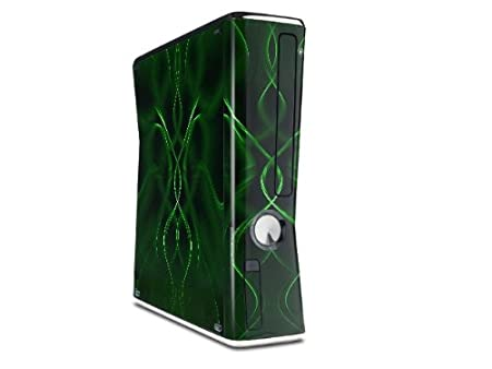 Abstract 01 Green Decal Style Skin for XBOX 360 Slim Vertical