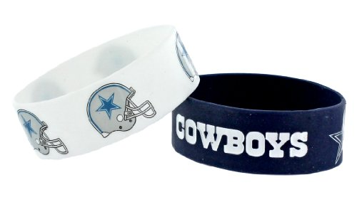 NFL Dallas Cowboys Silicone Rubber Bracelet Set, 2-Pack at Amazon.com