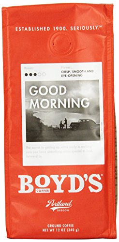 Boyds Coffee Good Morning, Ground Medium Roast Coffee, 12-Ounce Bag front-65458