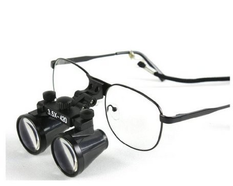 3.5X Binocular Loupes 420Mm Working Distance Dental Lab Surgical Medical Glasses By Topdental