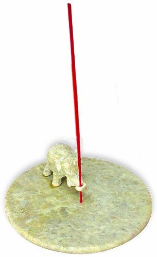 Aargee - Soporte para incienso (esteatita), diseño de elefante