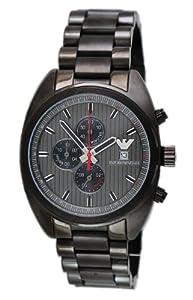 Men's Chronograph Dark Grey Textured Dial Gunmetal Stainless Steel
