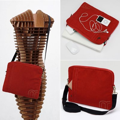 miim 11.6 Inch Luxurious Gold Red Suede Pouch LENOVO Thinkpad Laptop Cold-shoulder Strap Bag Sleeve Case For Women Faithful Shipping