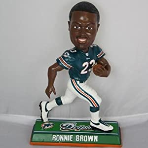 Ronnie Brown Miami Dolphins End Zone Bobblehead Estatuilla Figurine Estatuilla