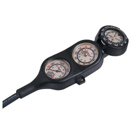 Promate Scuba Diving Gauge Console Tank Pressure Depth Compass Temperature (Made in Italy)