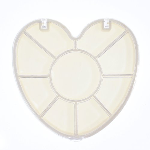 ハート型ラインストーンケース10部屋 ハートの形のストーンケースにお気に入りを入れよう小物収納容器