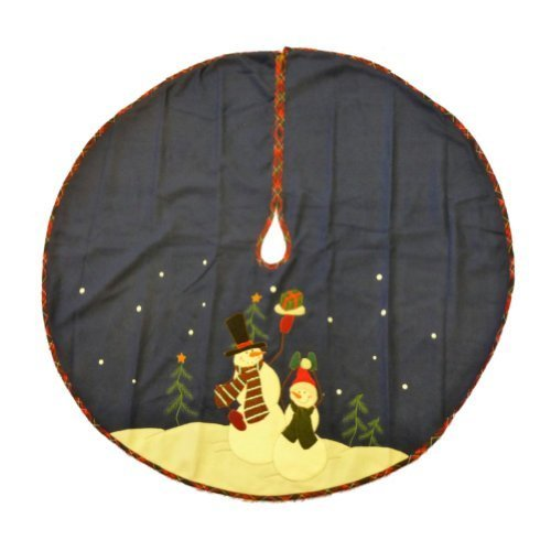 trimmery-dark-blue-felt-snowman-family-christmas-tree-skirt-xmas-holiday-by-trimmery
