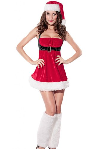 Dear-Lover Women's Santa Envy Christmas Costumes