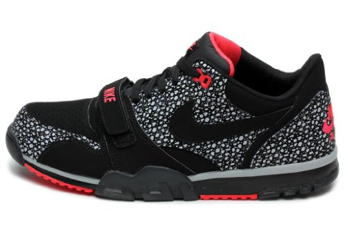sports shoes e864c 83cc3 Nike Mens AIR TRAINER 1 LOW ST BLACK WOLF GREY LASER CRIMSON BLACK 637995  001 9