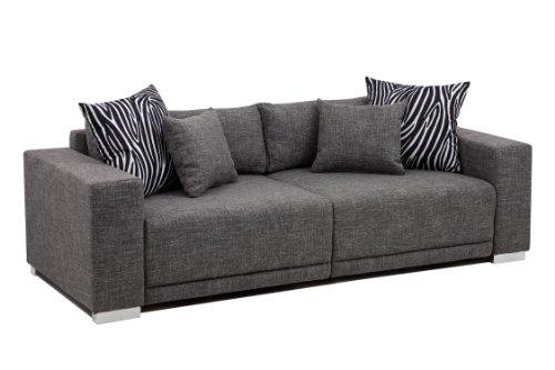 B-famous Big Sofa London-XLStruktur grau, 237x103 cm, thumbnail
