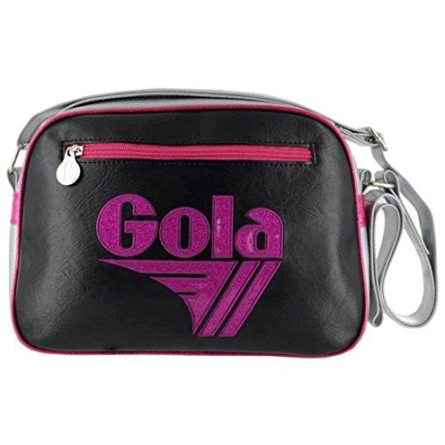 Borsa GOLA Mini Redford Glitter - ZCUB050BX - 28x20 - Black/Silver/Fuchsia