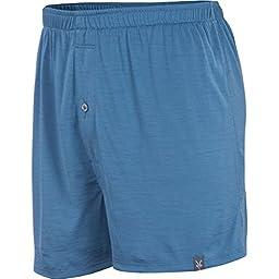 Ibex Outdoor Clothing Men\'s W2 Standard Boxer, Blueprint, Small