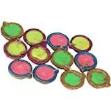 Atoot Multicolored Sparkled Tea Light Candles (Set Of 15)