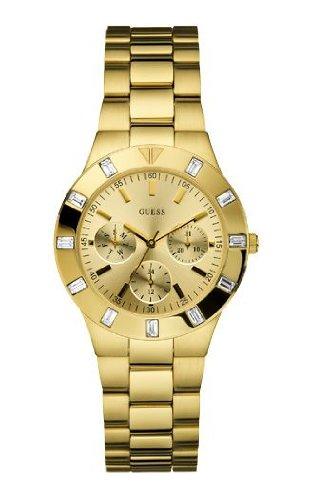 Guess W13576L1 - Reloj analógico de cuarzo para mujer con correa de acero inoxidable, color dorado