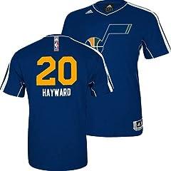 Utah Jazz Gordon Hayward #20 Adidas NBA Shooting T-Shirt (Navy) by adidas